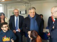 Tajani devolve il premio Carlo V ai comuni del cratere sismico. Celani, orgogliosi di lui. Castelli : non risolve i problemi