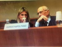 Camilla Fabbri, Pd, con il presidente emerito Giorgio Napolitano