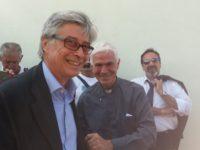 Mons. D'Ercole con Vasco Errani ad Arquata Tronto