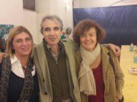 Rossano Ercolini con Cristina Farnesi, a sinistra, referente di Zero Waste Marche
