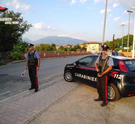 Castignano, guidava con tasso alcolemico 5 volte la norma. Fermato dai carabinieri