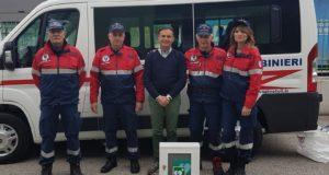 Da Borgioni un defribillatore ultima generazione all'Associazione carabinieri Spinetoli