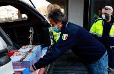 Ascoli, donate 250 pizze alle case di riposo della città